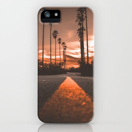 Road at Sunset iPhone Case