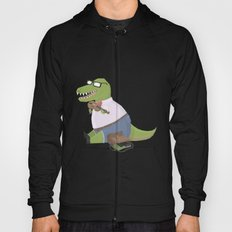 Hipster Dinosaur Jammin' on his Fiddle Hoody