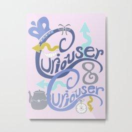 Curiouser & Curiouser (Pink) Metal Print