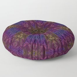 Orange Pink and Purple Kaleidosocope Floor Pillow