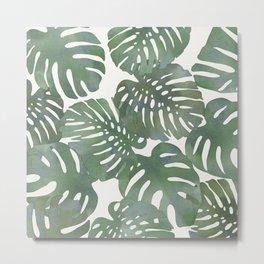 Tropical leave pattern 12 Metal Print