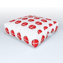 Flag of Denmark 4-danmark,danish,jutland,scandinavian,danmark,copenhagen,kobenhavn,dansk Outdoor Floor Cushion