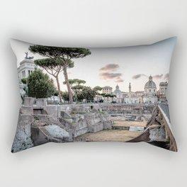 Sunset at Forum of Rome Rectangular Pillow
