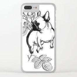 Rosie dog Clear iPhone Case