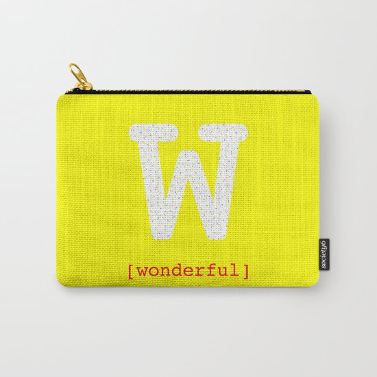 #W [wonderful] Carry-All Pouch