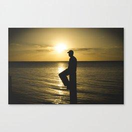 Beam Silhouette Sunset  Canvas Print
