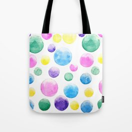 cheerful colorful bubbles Tote Bag