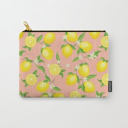 You're the Zest - Lemons on Pink Carry-All Pouch