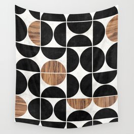 Mid-Century Modern Pattern No.1 - Concrete and Wood Wall Tapestry