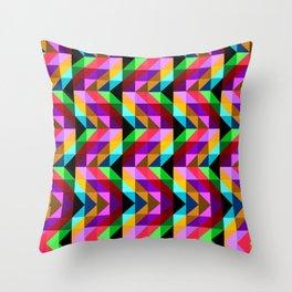 Rainbow Geometry Throw Pillow