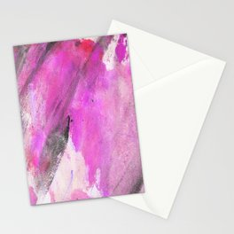Artistic purple pink black watercolor painting brushstrokes Stationery Cards