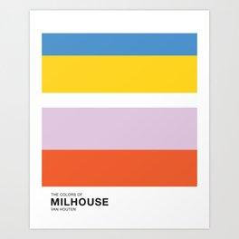 The Colors of - MILHOUSE VAN HOUTEN - Simpsons Art Print