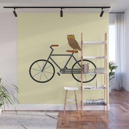 Owl Riding Bike Wall Mural