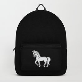 Grey Trotting Horse Cute Cartoon Illustration Backpack