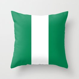 Nigerian Flag - Authentic High Quality HD Image Throw Pillow