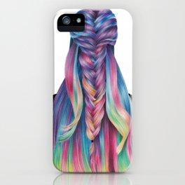 Hair illustration iPhone Case