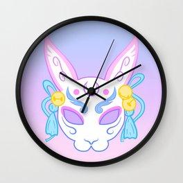 Usagi Mask (pastel) Wall Clock