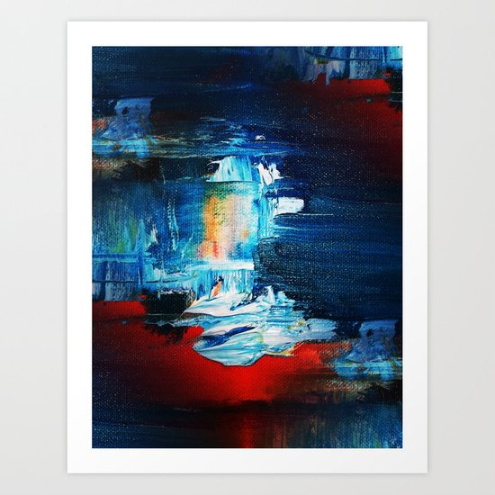 """What do YOU see Abstract #2  """"Red Skies at Night"""" Art Print"""