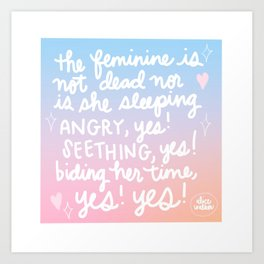 The Feminine Art Print