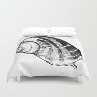 snail Duvet Covers featuring Snail by MARIA BOZINA - PRINT