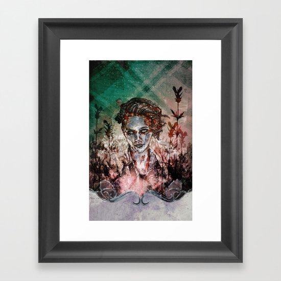 IN HER VICTORY GARDEN Framed Art Print