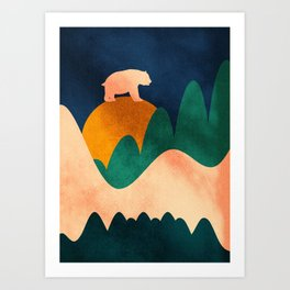 The higher, the best Art Print