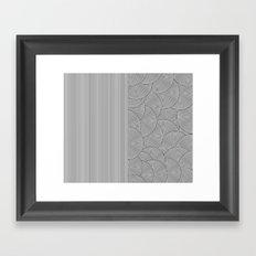 Two Lines Framed Art Print