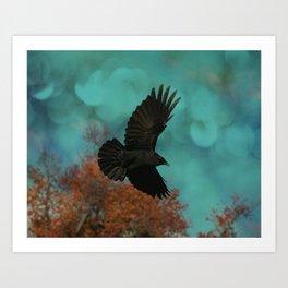 Soaring Crow Art Print