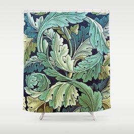 William Morris Herbaceous Italian Laurel Acanthus Textile Floral Leaf Print  Shower Curtain