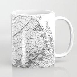 Dry_Leaf_Detail_Black & White_Pattern Coffee Mug