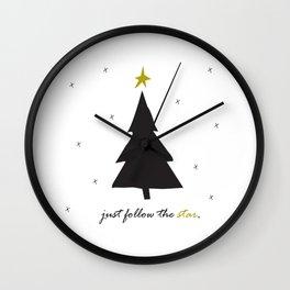 Just Follow The Star Wall Clock