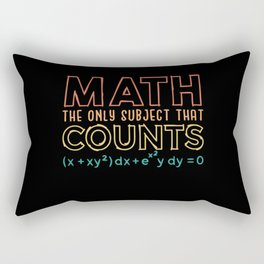 Pi Day Shirt Math the only subject that counts Rectangular Pillow