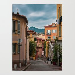 Vieux Nice on a Cloudy Day Poster