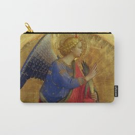 """Fra Angelico (Guido di Pietro) """"Perugia Altarpiece – Angel of the Annunciation"""" Carry-All Pouch"""