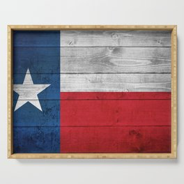 Texas State Flag Serving Tray
