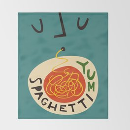 Yum Spaghetti Throw Blanket