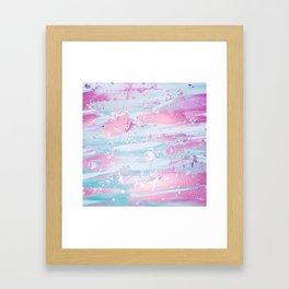 Shine Shimmer Pastel Pink and Blue Modern Framed Art Print