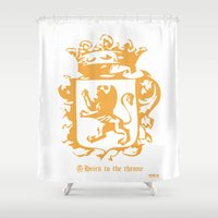 narnia Shower Curtains featuring King by John Choi King