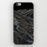 dark side of the moon iPhone & iPod Skins featuring Dark Side of the Moon by Lyle Hatch