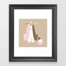 Neapolitan Ice Cream Cat Framed Art Print