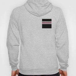 Team Colors 2...pink,white stripe on black Hoody