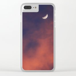 Hide and Go Find Moon Clear iPhone Case