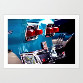 Taillights from a car Art Print