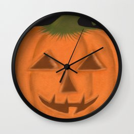 The Textured Pumpkin Wall Clock