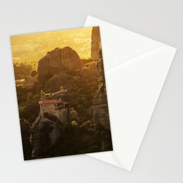 Golden hour at Meteora Stationery Cards