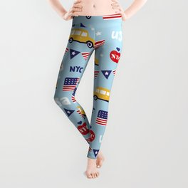 Made in the USA New York City icons pattern Leggings