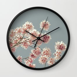 Cherry Almond Branches Wall Clock