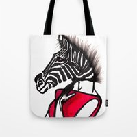 striped Tote Bags featuring Striped by Chetna Shetty