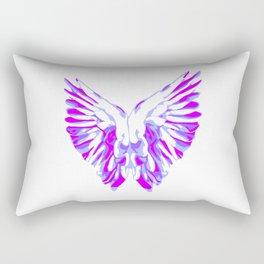 Purple Angel Wings Rectangular Pillow