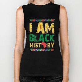 I'm Black History, Black Lives Matter, African American Pride Biker Tank